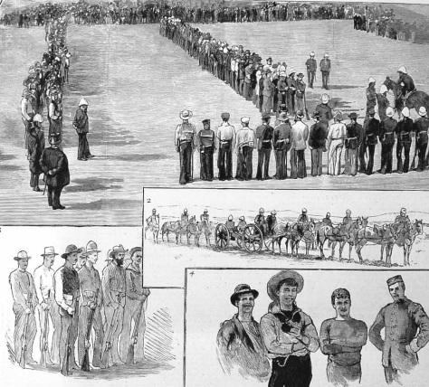 Hier ist das Australische Freiwilligen Kontingent bei einer Parade in Sydney zu sehen.