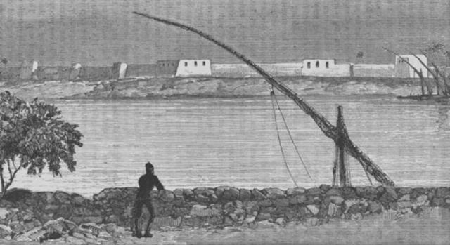 Die Insel Tuti gegenüber der Stadt Khartoum