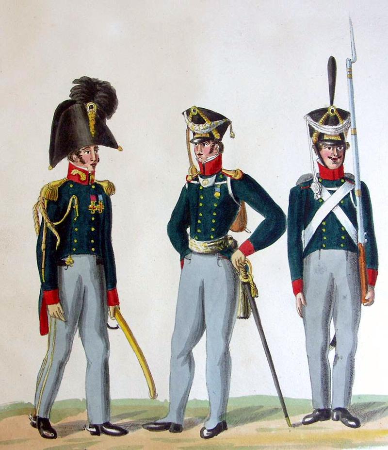 Offiziere und Soldat der Infanterie 01