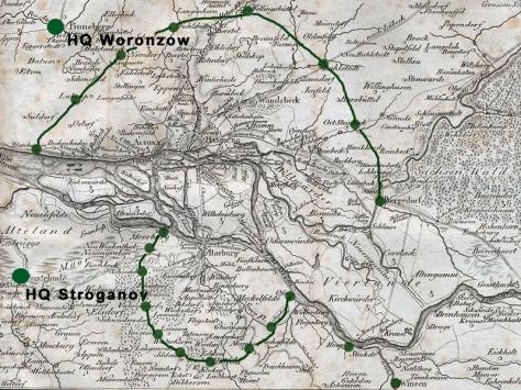 Stellungen Russen 1813