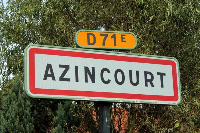 Das Schlachtfeld von Azincourt
