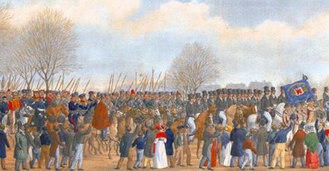 (114) Einzug Kosaken 1813